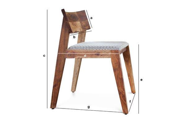 Dimensioni del prodotto Sedia Stockholm