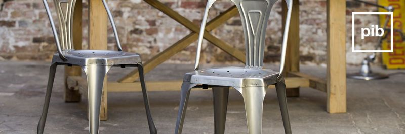 Sedie industrial in metallo