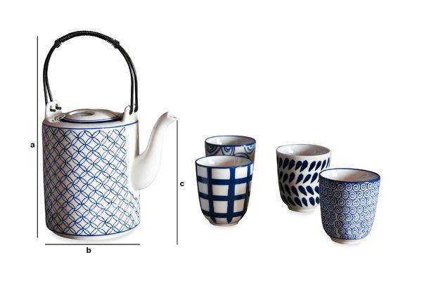 Dimensioni del prodotto Set da tè Hivana