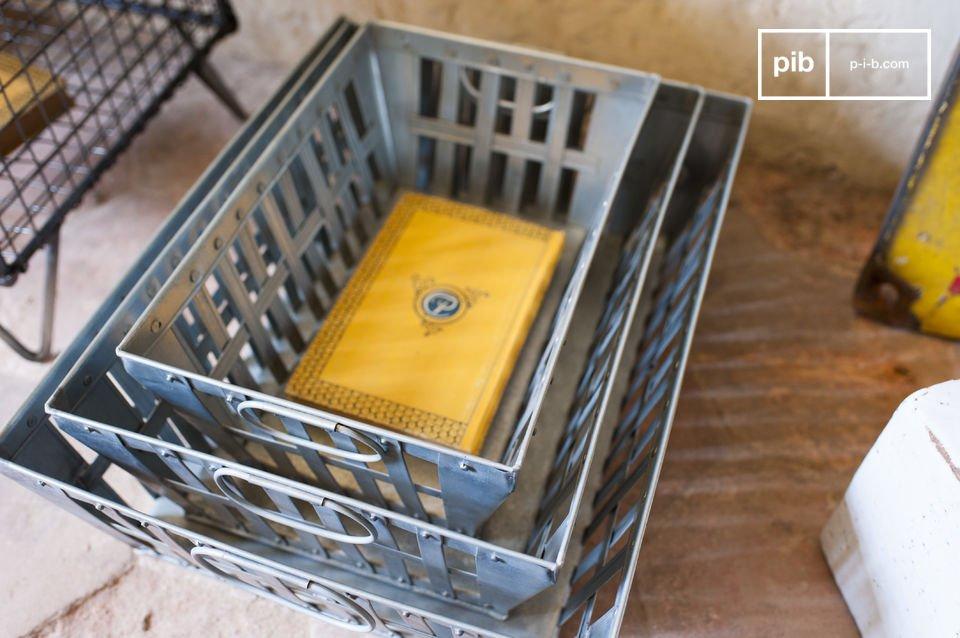 Questo set di tre ceste metalliche offre molto spazio per conservare i tuoi oggetti e