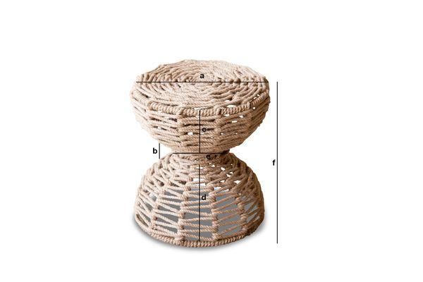 Dimensioni del prodotto Sgabello Arpillera