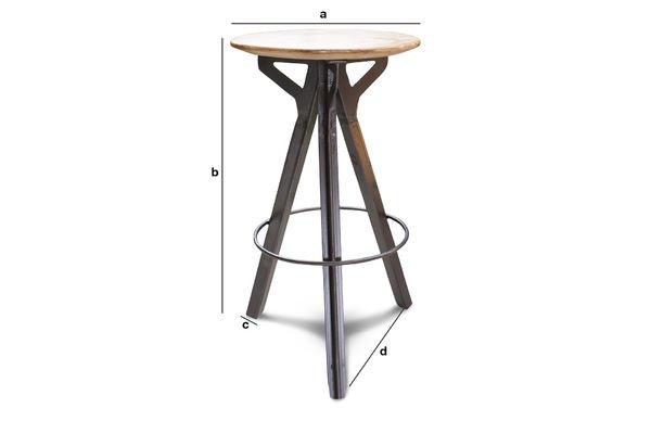 Dimensioni del prodotto Sgabello da bar Jetson
