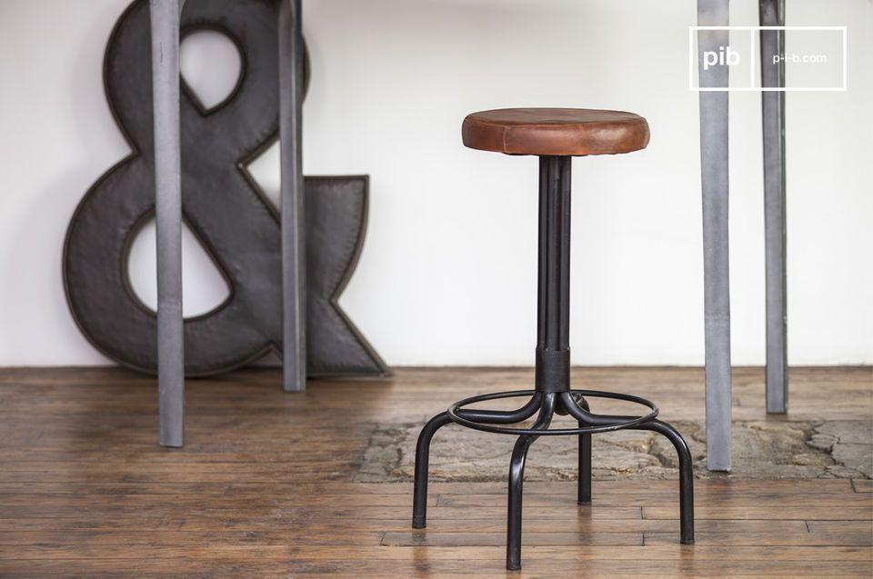 Sgabello del calzolaio alto sedile di cuoio pib