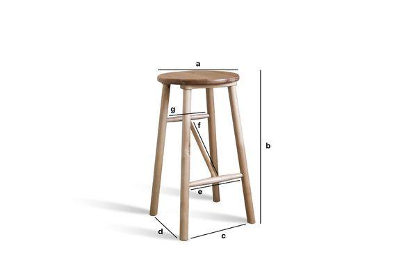 Dimensioni del prodotto Sgabello in legno Niels