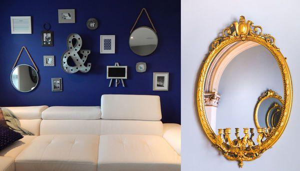 specchi su divano