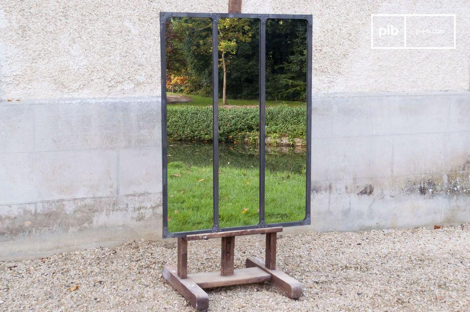 Specchio Atelier con struttura in metallo