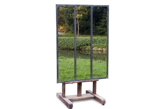 Specchio Atelier con struttura in metallo Foto ritagliata