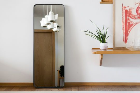 Specchio con cornice nera Ascain