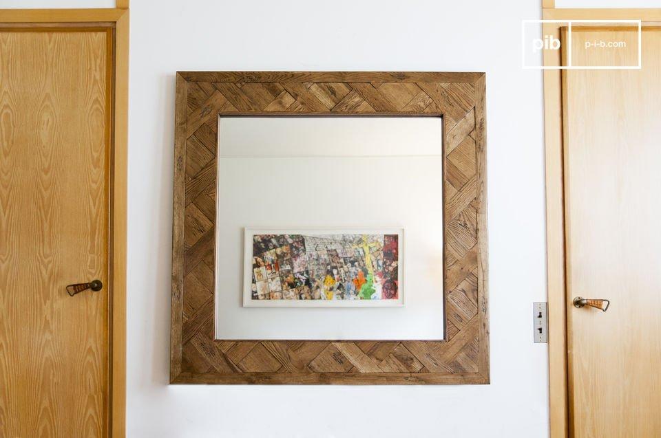 Specchio di legno Queens