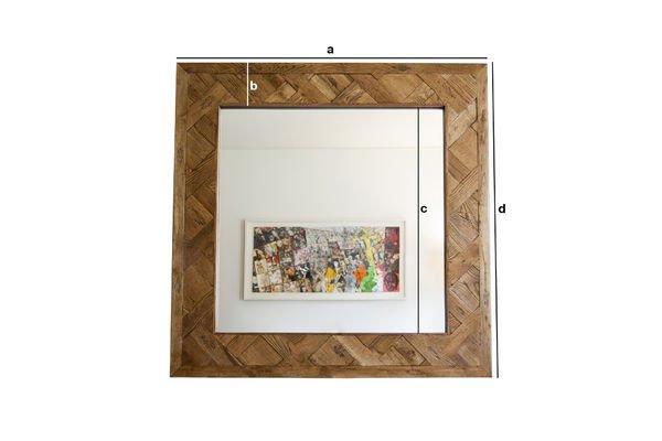 Dimensioni del prodotto Specchio di legno Queens