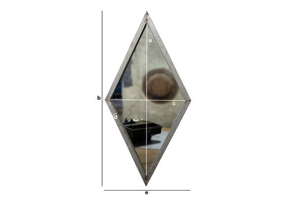 Dimensioni del prodotto Specchio Diagone