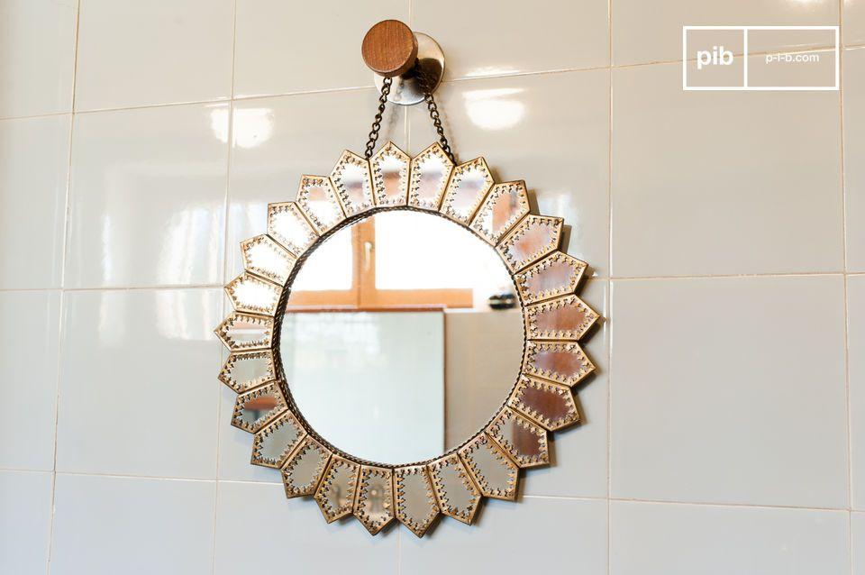 Specchio d'ottone Aurinko