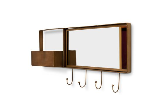 Specchio e appendiabiti a muro Mimizan Foto ritagliata