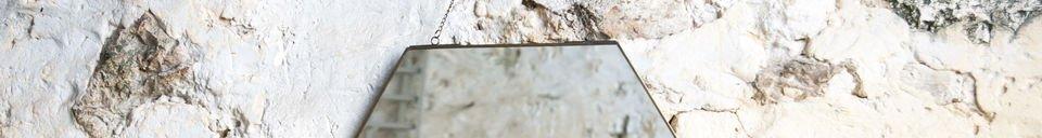 Materiali prima di tutto Specchio esagonale Solliès-Pont
