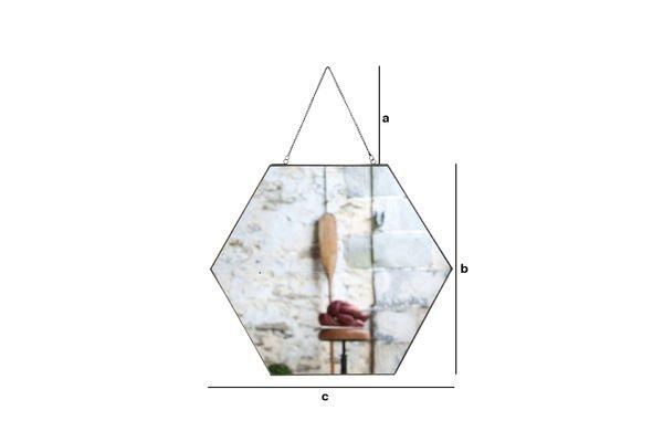 Dimensioni del prodotto Specchio esagonale Solliès-Pont
