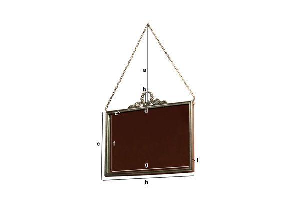 Dimensioni del prodotto Specchio Flèche de Bronze