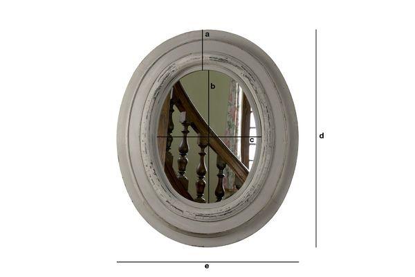 Dimensioni del prodotto Specchio in legno Napoleone