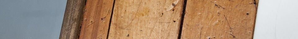 Materiali prima di tutto Specchio in legno Sheffield