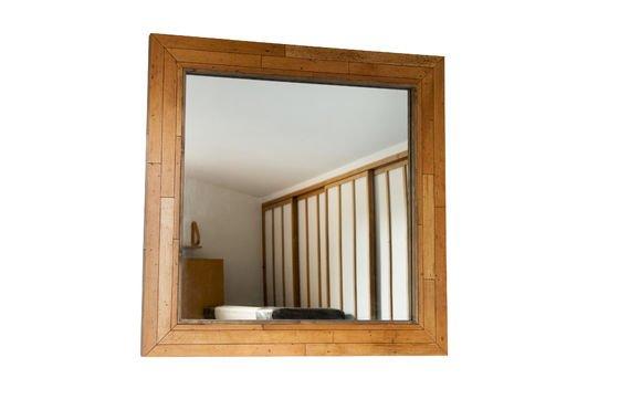 Specchio in legno Sheffield Foto ritagliata