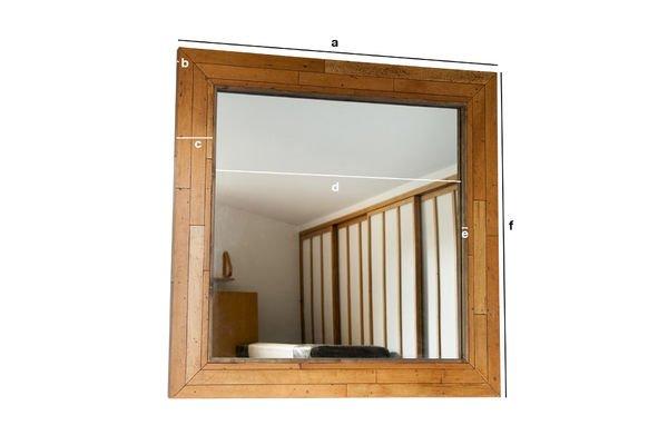 Dimensioni del prodotto Specchio in legno Sheffield
