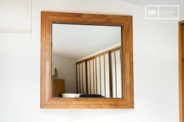 Specchio in legno Sheffield