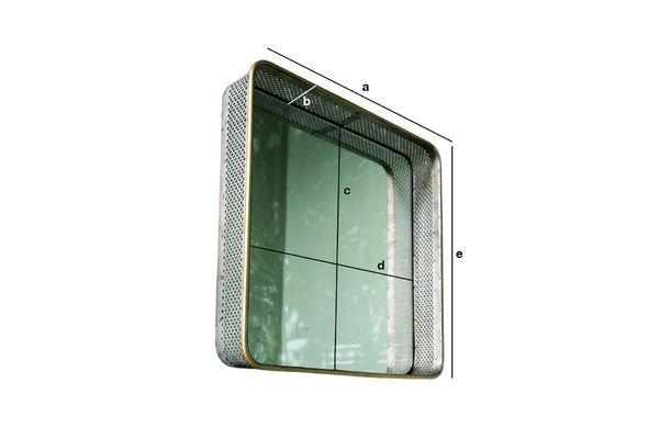 Dimensioni del prodotto Specchio in metallo Olonne
