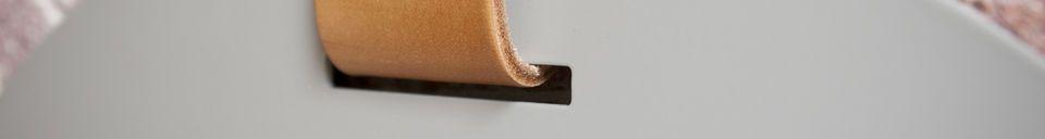 Materiali prima di tutto Specchio per ingresso grande con cinghia