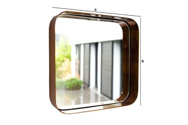 Dimensioni del prodotto Specchio quadrato Lena