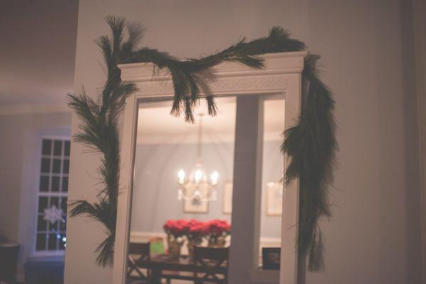 specchio shabby chic con decorazione