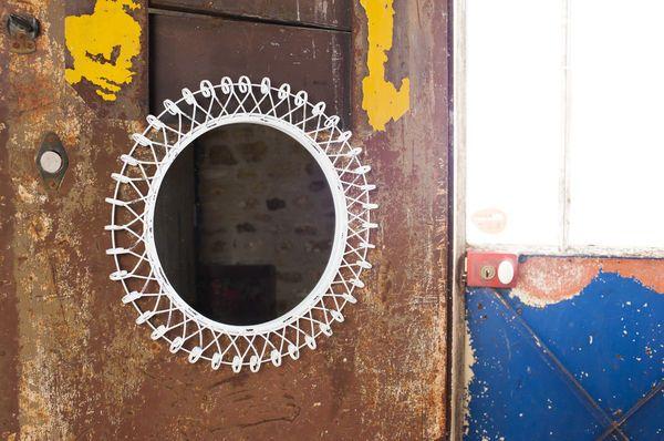 spiegel deko blumen