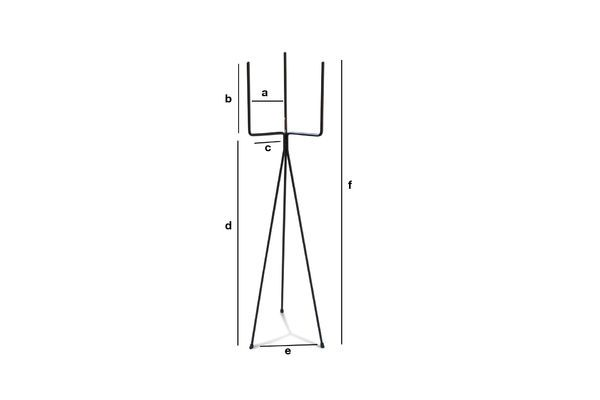 Dimensioni del prodotto Supporto per vasi in metallo nero