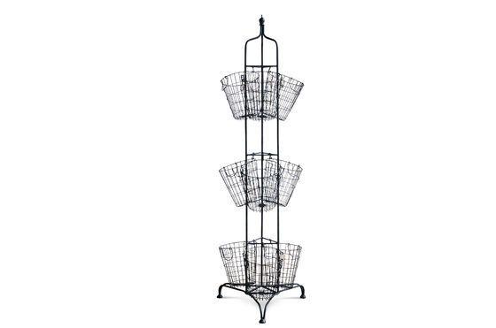 Supporto verticale con 9 cestelli metallici Foto ritagliata