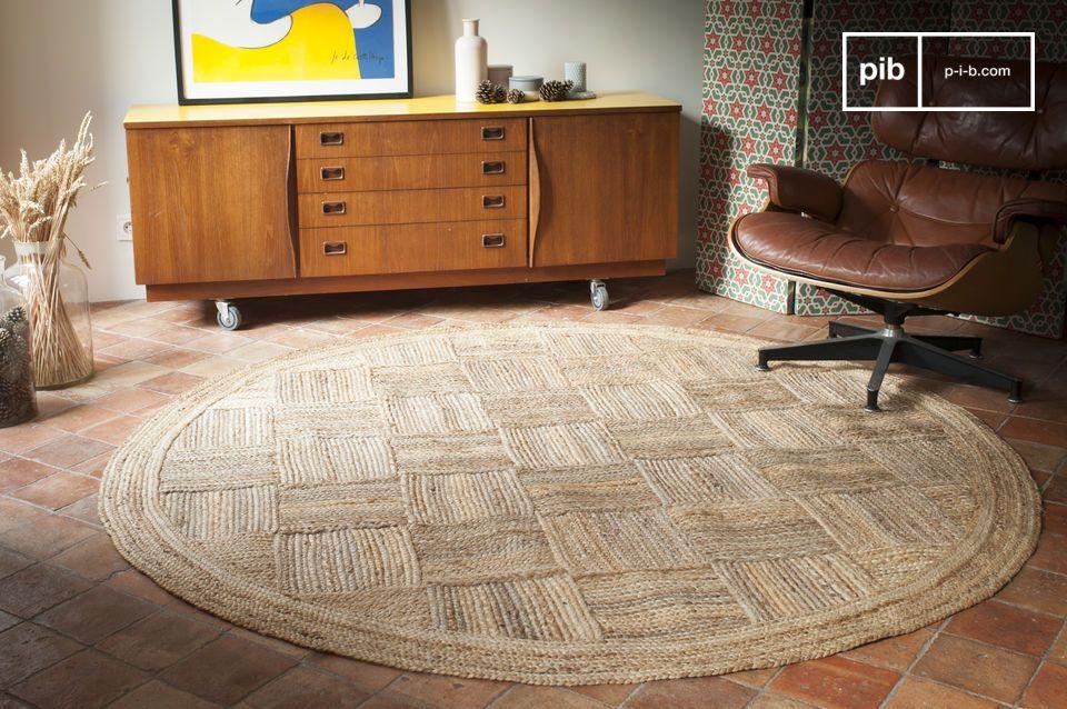 Con uno stile molto naturale, il tappeto Williams è realizzato in iuta intrecciata
