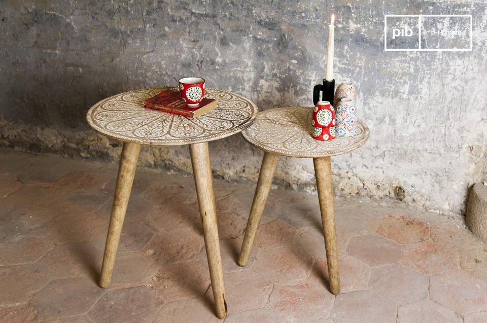 Il tavolini Minelle costituiscono un magnifico duo pieno di fascino bohemien che aggiungerà un