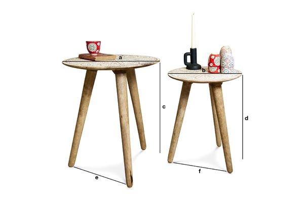 Dimensioni del prodotto Tavolini Minelle