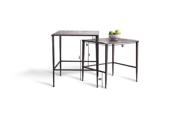 Dimensioni del prodotto Tavolini modulabili Philadelphia