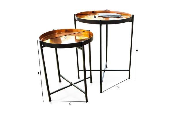 Dimensioni del prodotto Tavolino a due pezzi Lloyd