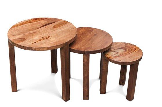 Tavolino a tre ripiani Roza Foto ritagliata