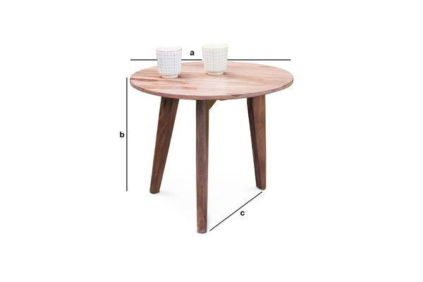 Dimensioni del prodotto Tavolino Ascënt