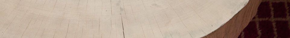 Materiali prima di tutto Tavolino basso di tronco d'albero Natural Luka