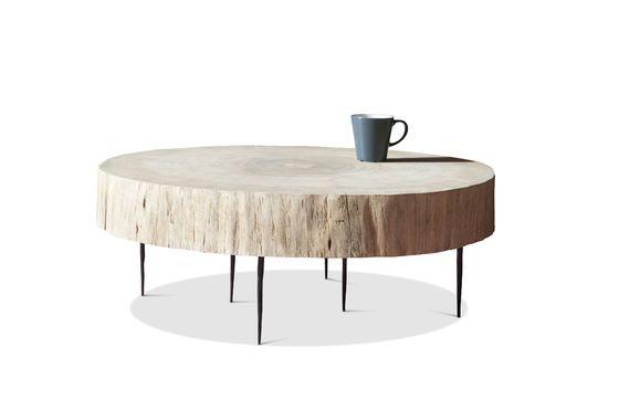 Tavolino basso di tronco d'albero Natural Luka Foto ritagliata
