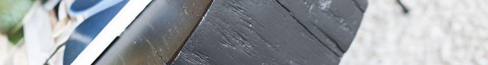 Materiali prima di tutto Tavolino basso di tronco d'albero Natural Luka nero