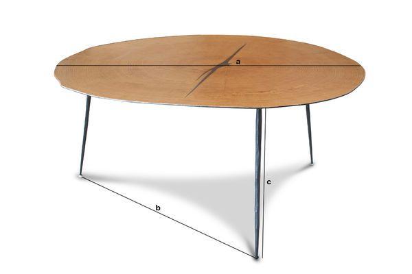 Dimensioni del prodotto Tavolino basso gemello Xylème