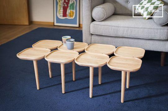 Tavolino basso in legno Kädri