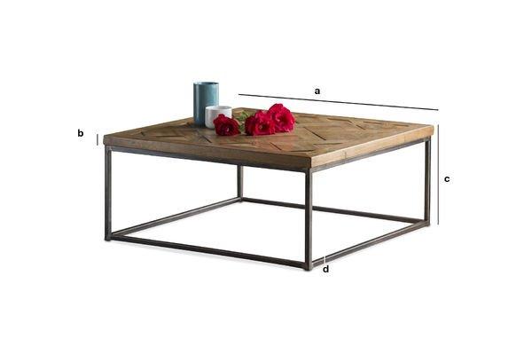 Dimensioni del prodotto Tavolino basso Queens