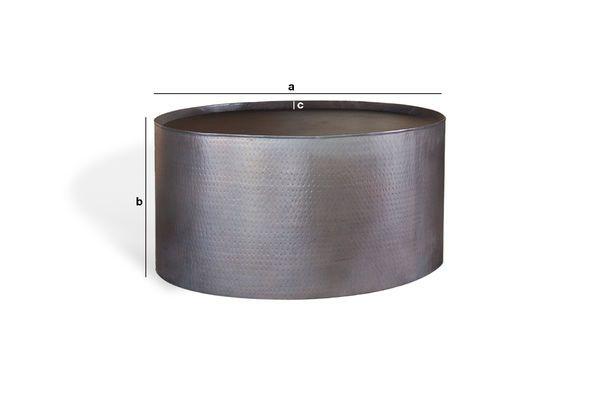 Dimensioni del prodotto Tavolino basso rotondo Subolo