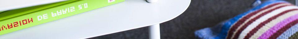 Materiali prima di tutto Tavolino bianco Holly