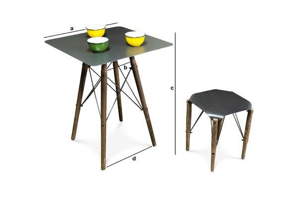 Dimensioni del prodotto Tavolino Bistrò Bow