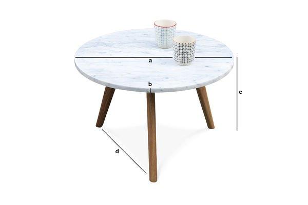 Dimensioni del prodotto Tavolino Briët