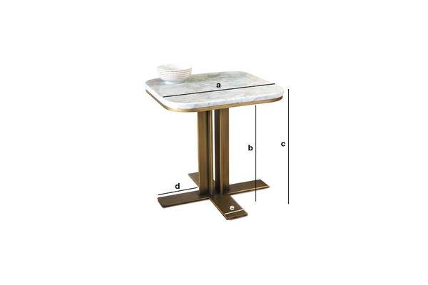 Dimensioni del prodotto Tavolino Carrera
